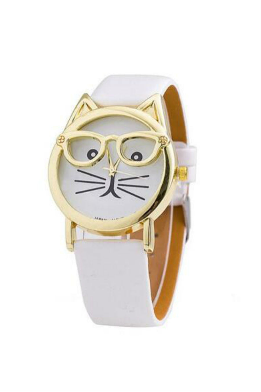 Cat White Strap Watch
