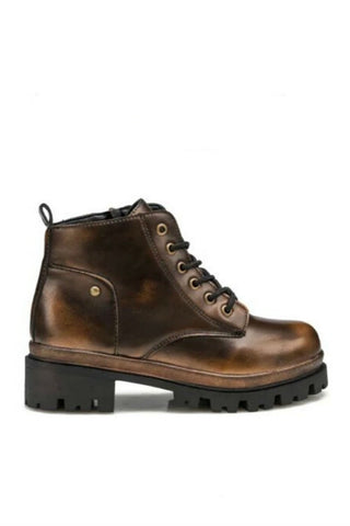 Bronze Motorcycle Martin Boots
