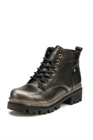Black Motorcycle Martin Boots