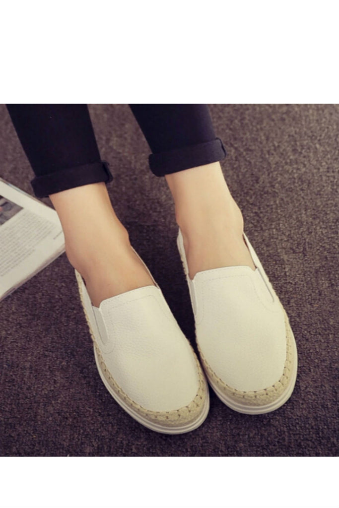 White Women's Casual Loafers
