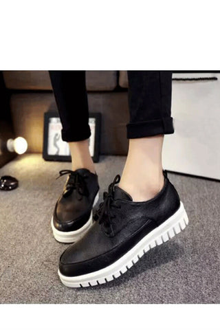 Black Round Toe Sneakers