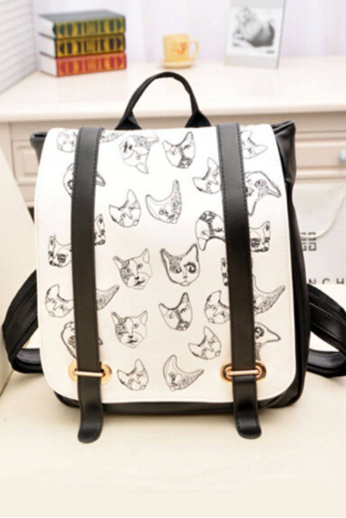 Kittens Embroidered Backpack