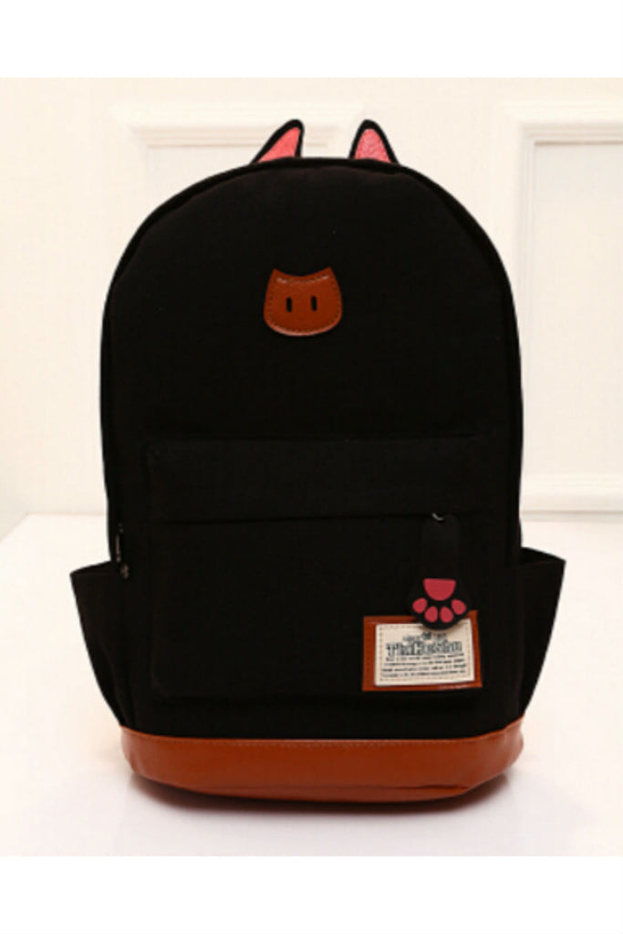 Brown Cute Cat Ear Backpack