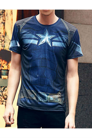 Captain America Printed T-shirt