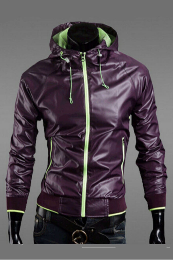 Purple Waterproof Hoodie Jacket