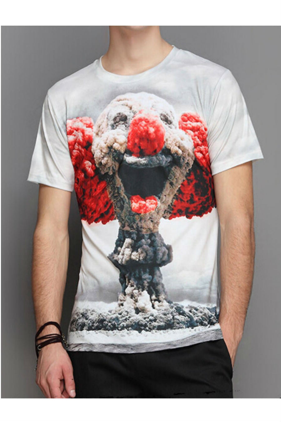 3D Clown Short Sleeve T-shirt