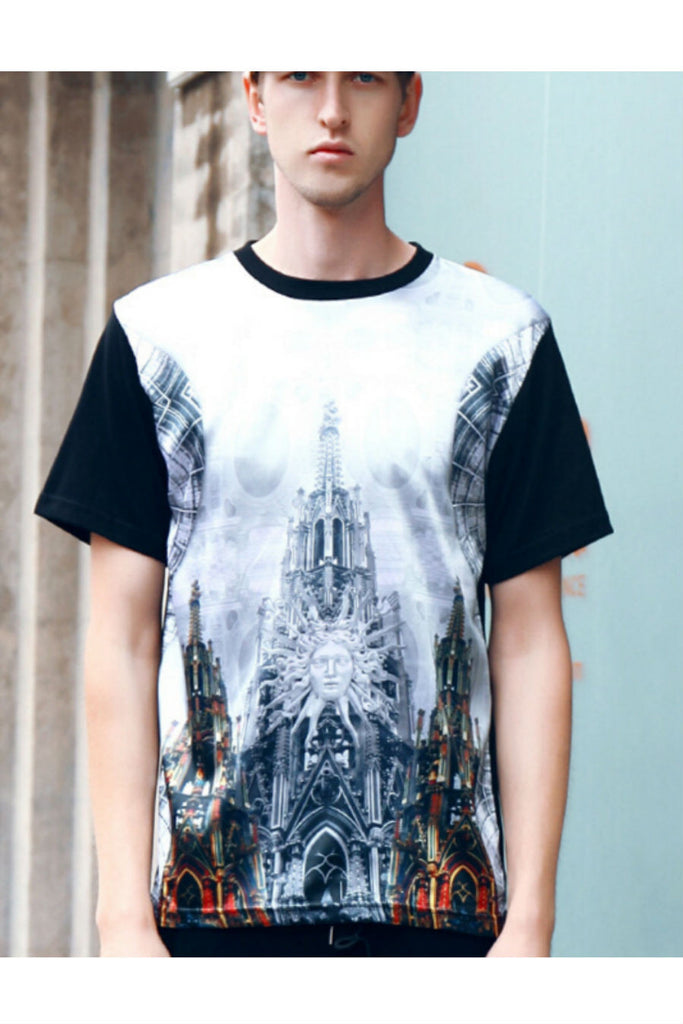 Vintage Church 3d Printed T-shirt