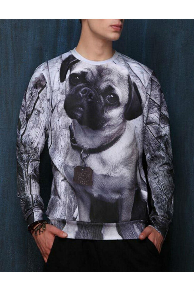 3D Dog Printed Sweater