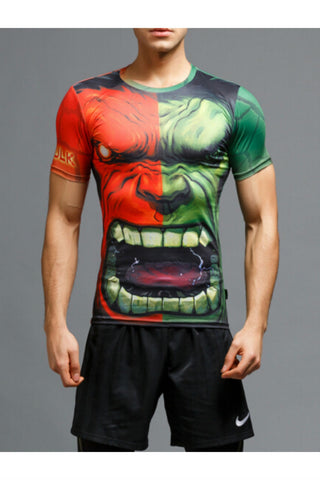 3D Hulk Short Sleeve T-shirt