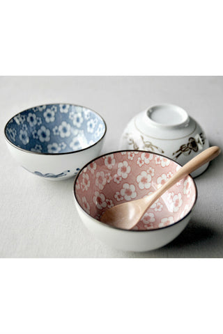 Retro Plum Blossom Ceramic Bowl