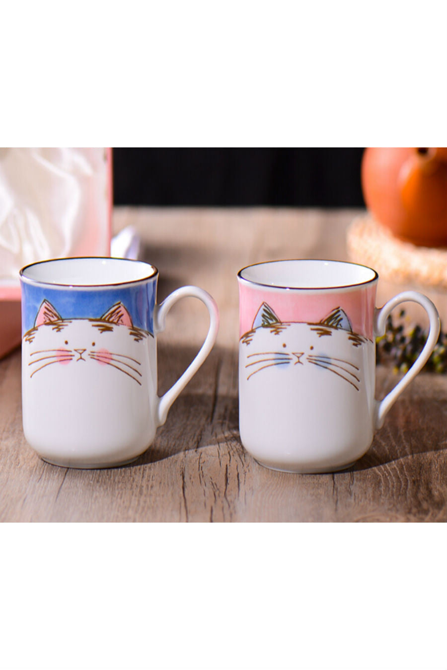 2 Pieces Lucky Cat Mug Set