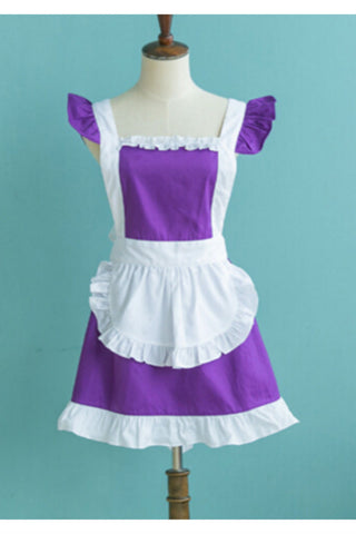 Purple Ruffle Apron