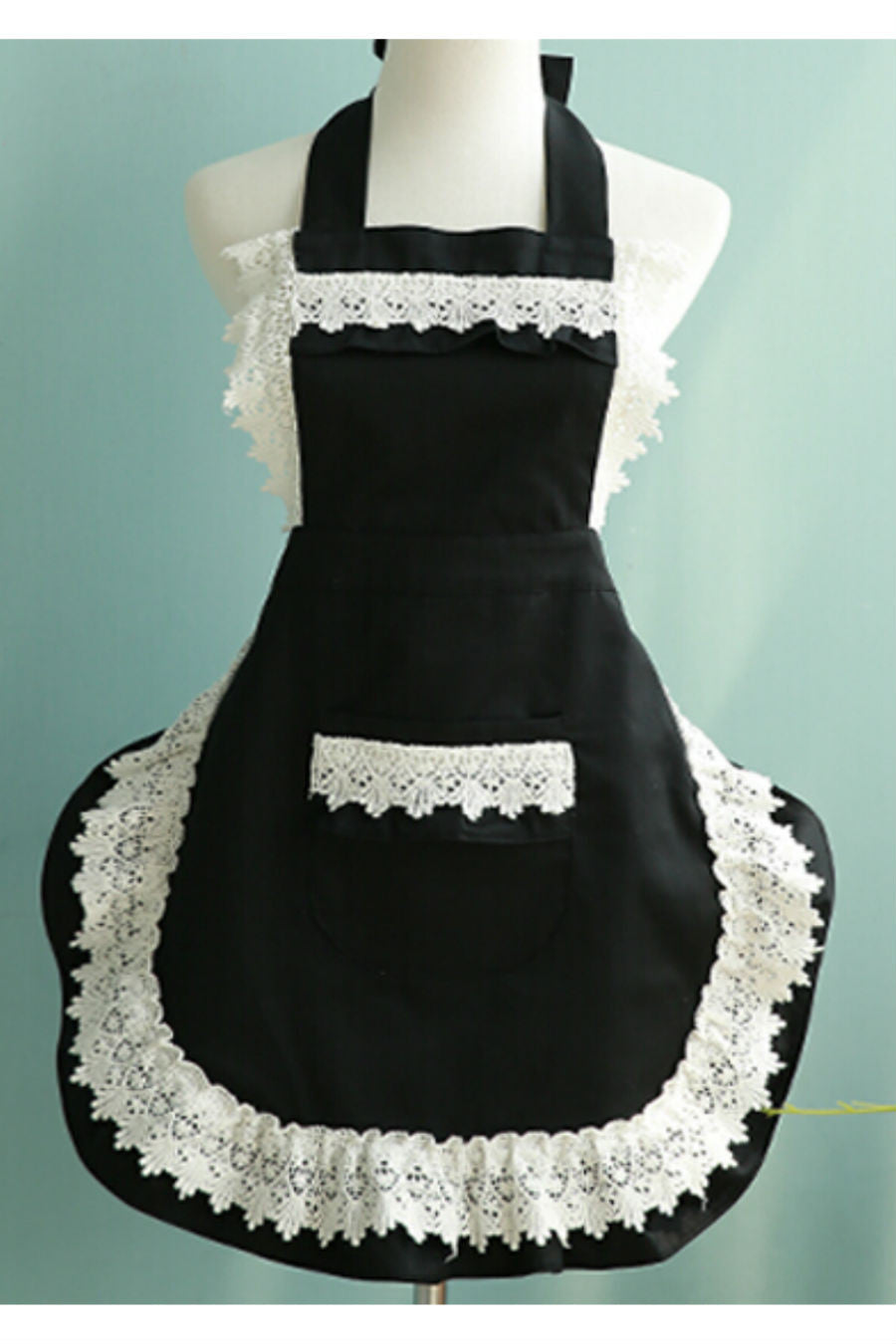 Black Lace Apron