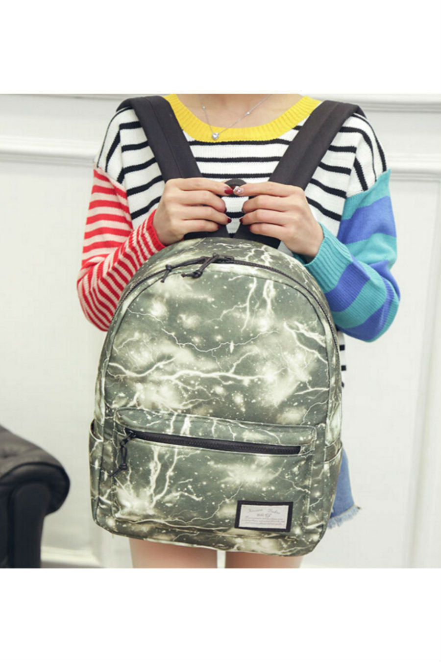 Galaxy Green Canvas Backpack