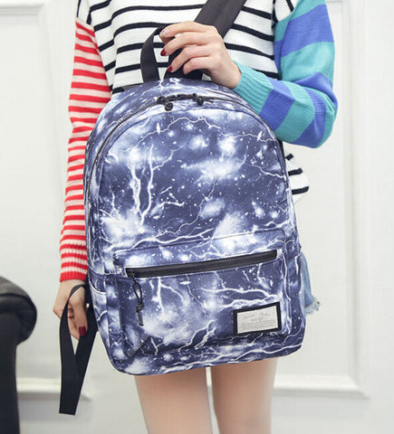 Galaxy Navy Canvas Backpack