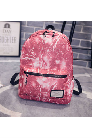 Galaxy Red Canvas Backpack