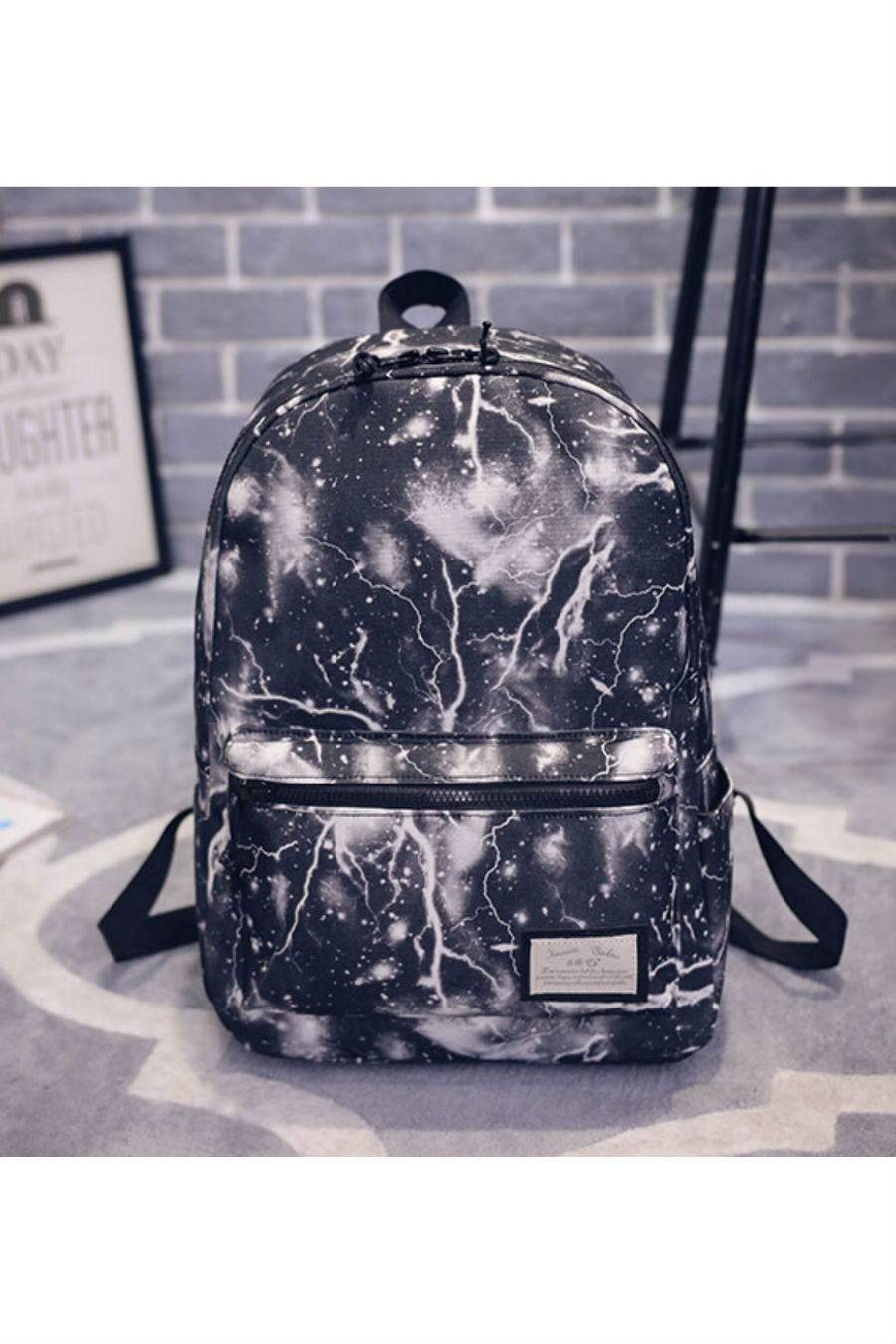 Galaxy Black Canvas Backpack