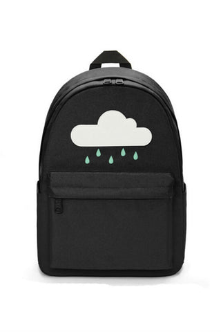 Black Cloud Canvas Backpack