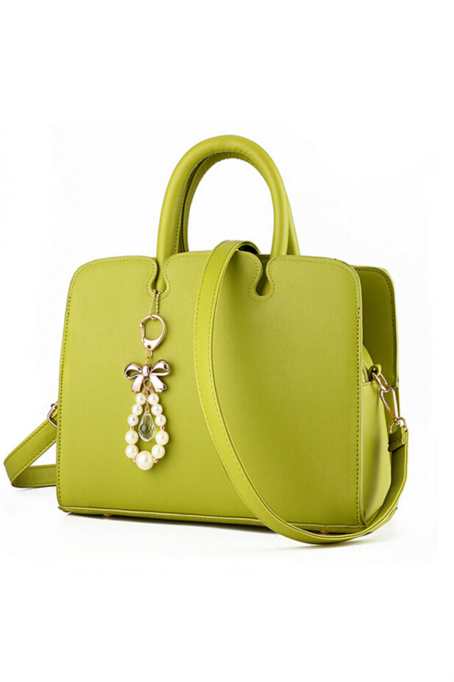 Elegant Green Leather Tote Bag