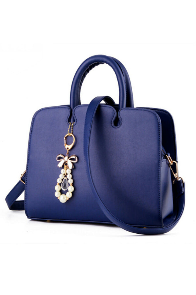 Elegant Navy Leather Tote Bag