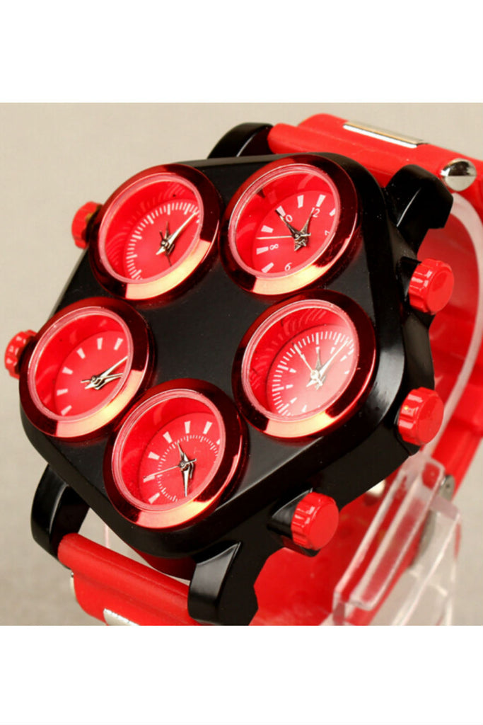 Red Five Dials Hip-Hop Watch