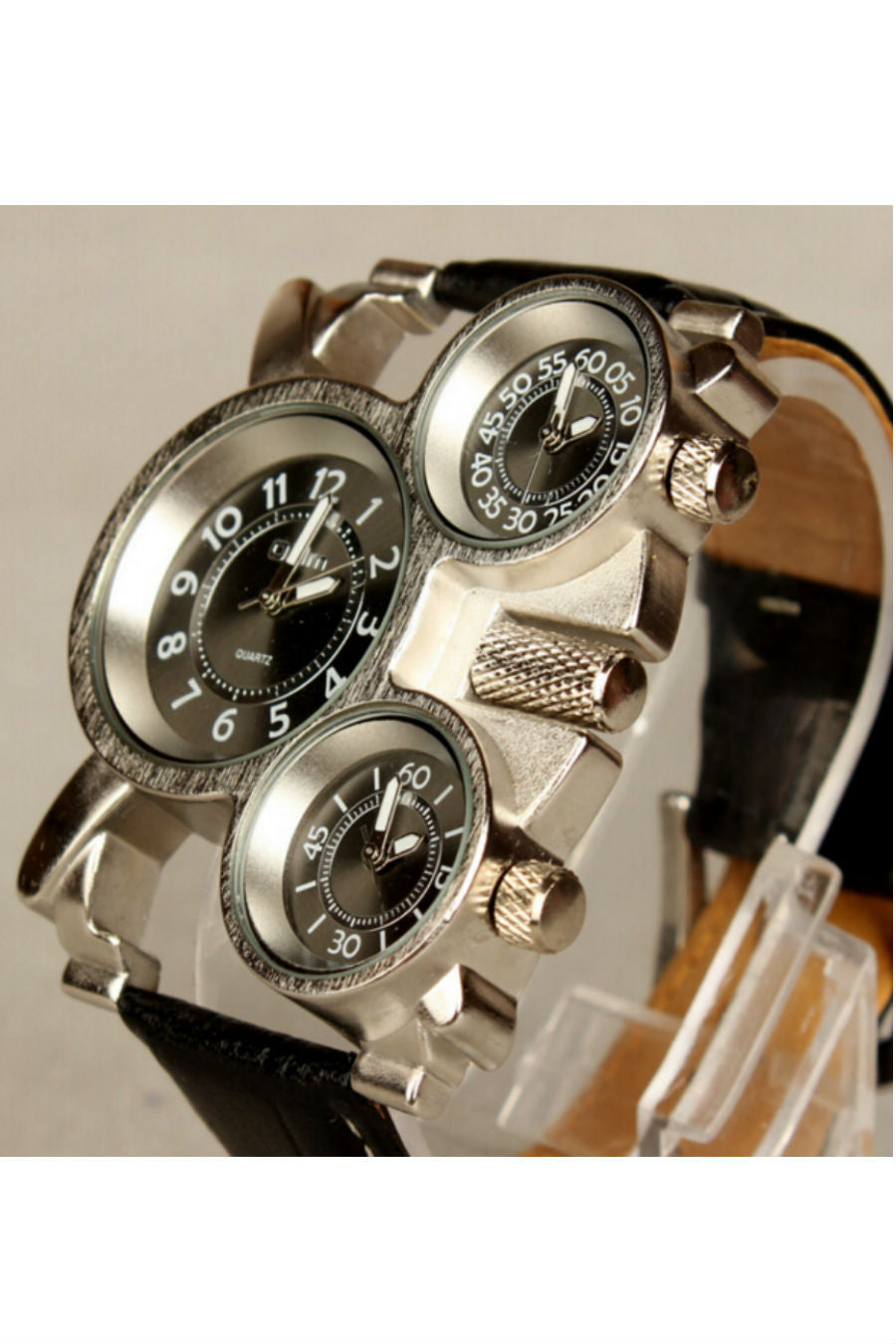 Leather Band Hip Hop Watch