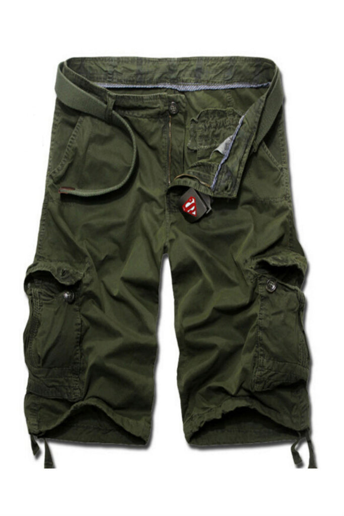 Men's Casual Cargo Shorts In Army Green