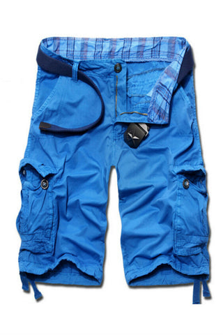 Men's Casual Cargo Shorts In Blue