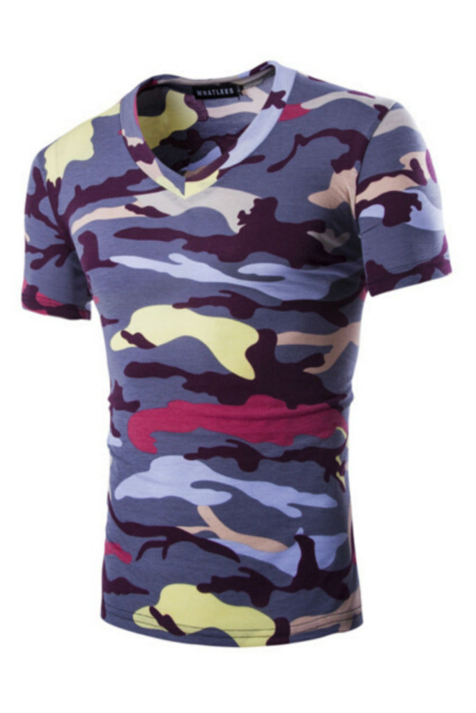 Army Combat V-Neck T-shirt
