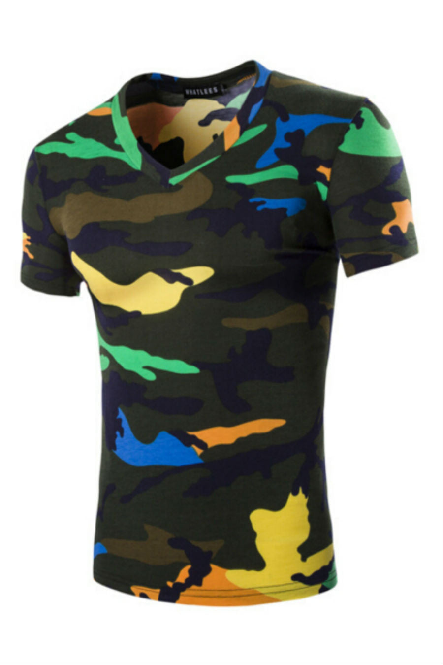 Army Camo V-Neck T-shirt
