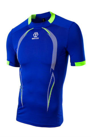 Men's Gym Sport Running T Shirt In Blue