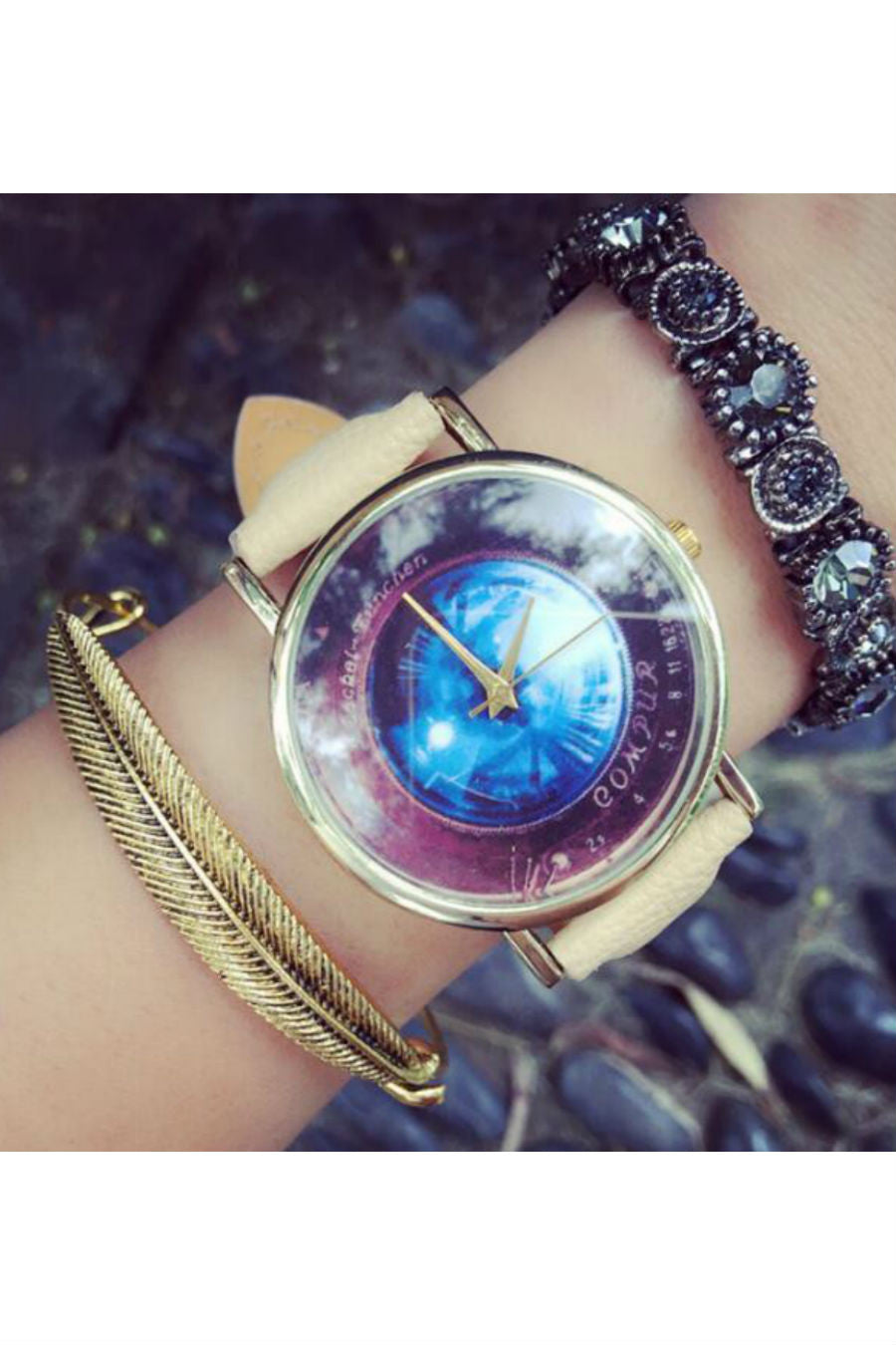 Galaxy Pattern Band Watch