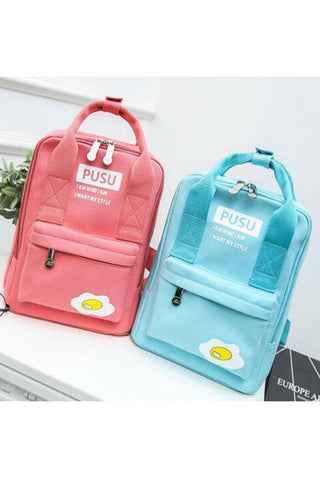 Harajuku Eggs Canvas Backpack