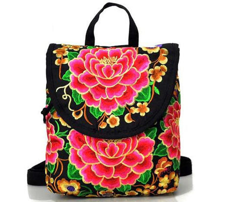 Ethnic Floral Boho Backpack