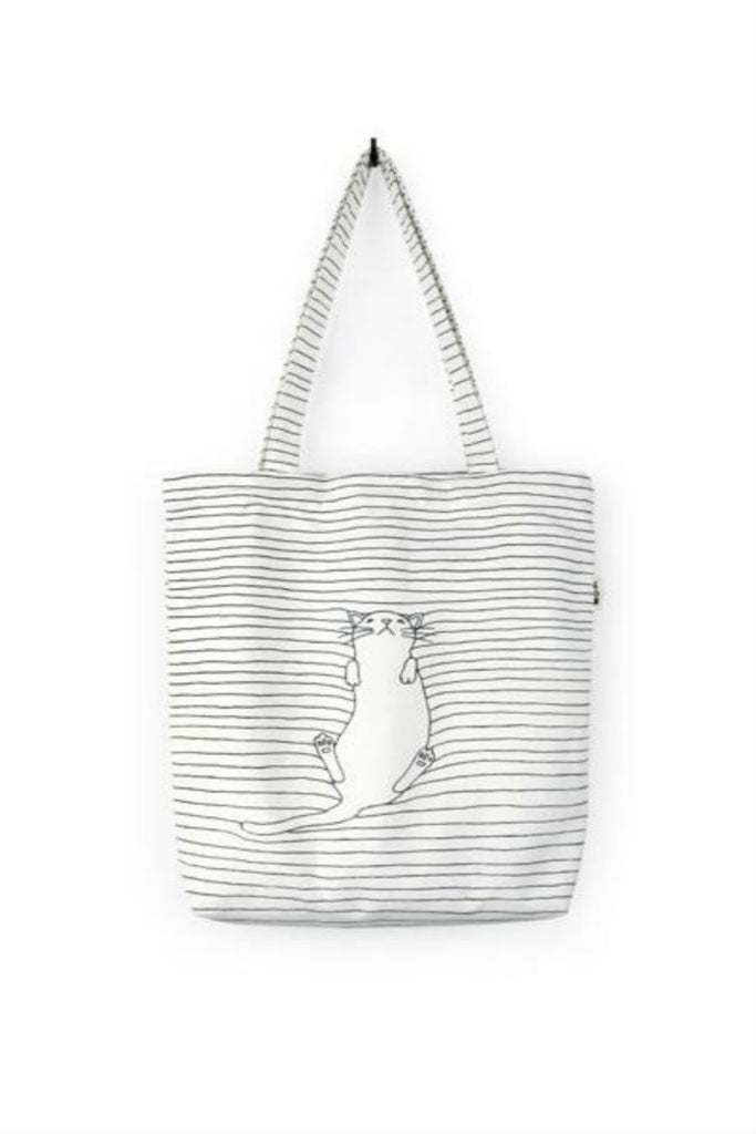 Vintage Cat Stripe Shoulder Bag