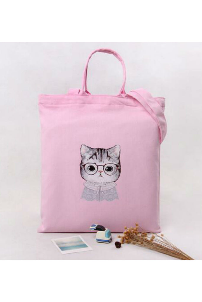 Vintage Pink Cat Shoulder Bag