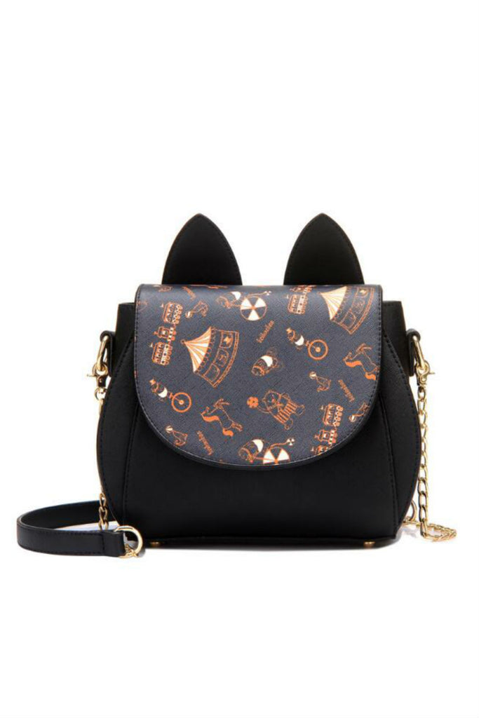 Kawaii Cat Ear Print Shoulder Bag