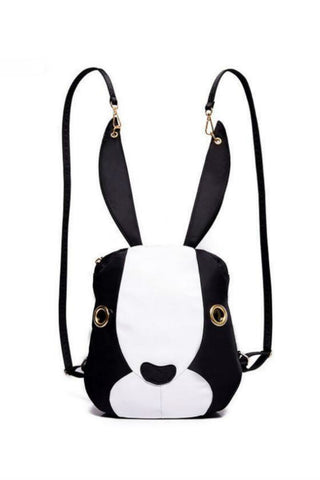 Black White Rabbit Backpack
