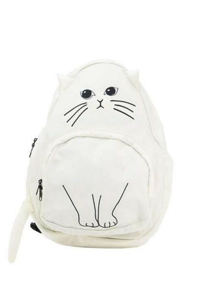 J-fashion Cat Backpack In White
