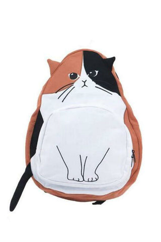 J-fashion Cat Backpack In Brown
