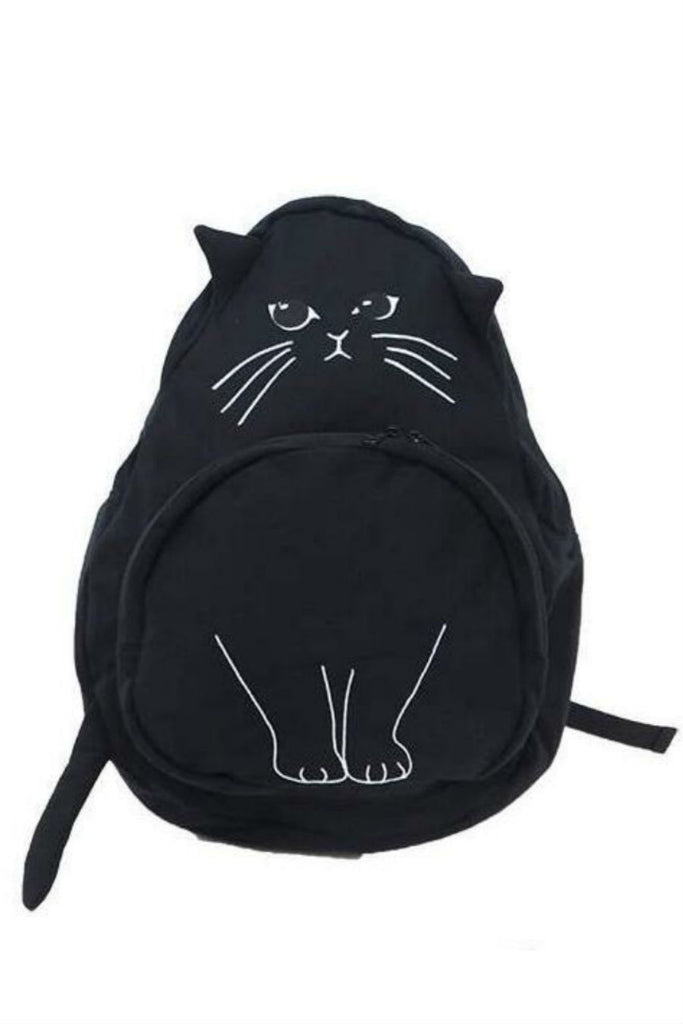 J-fashion Cat Backpack In Black