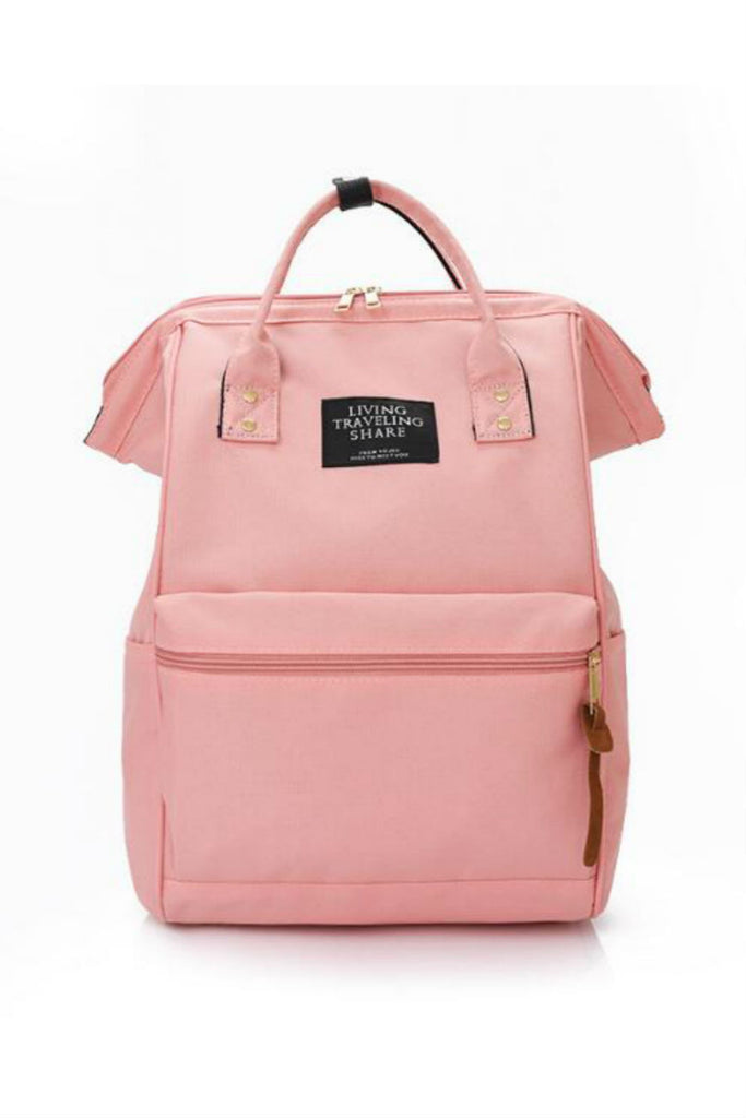 Vintage Pink Rucksack School Backpack
