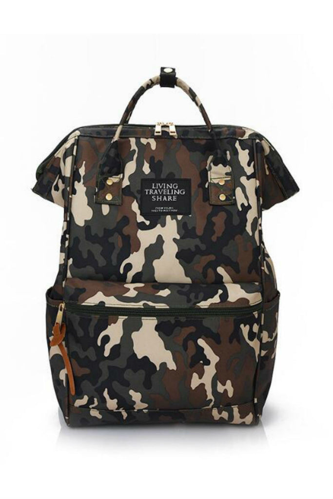 Camo Rucksack School Backpack