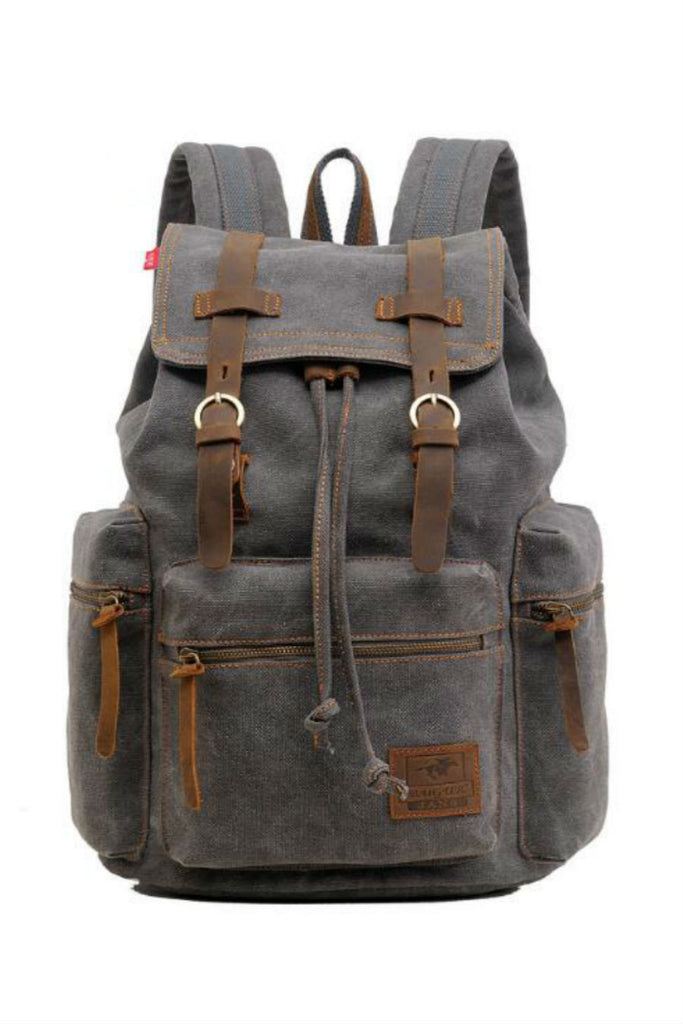 Gray Hiking Travel Backpack