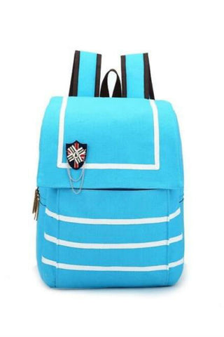 Harajuku Striped School Backpack