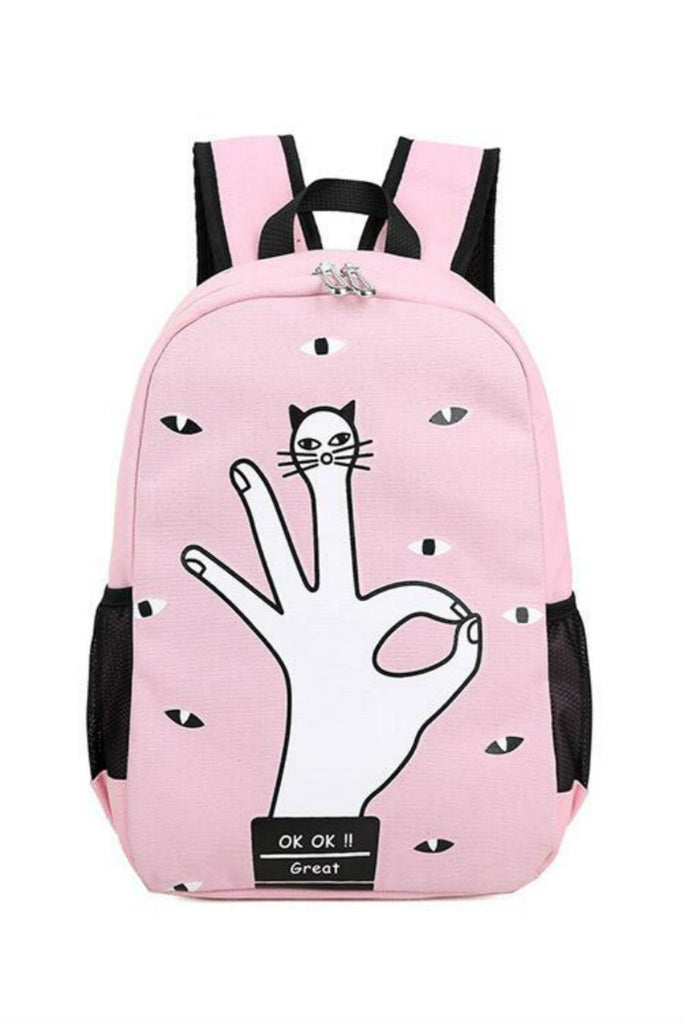 Harajuku Finger Cat School Backpack