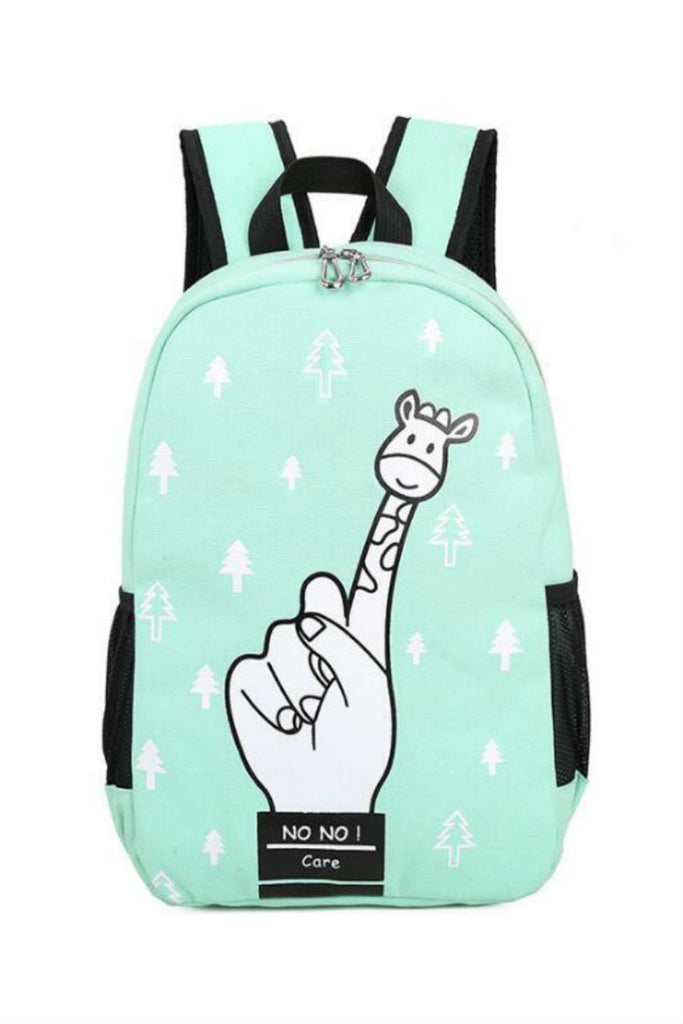 Harajuku Finger Giraffe School Backpack
