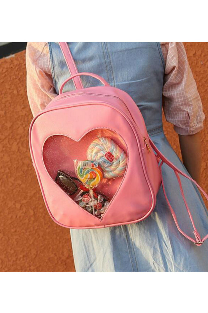 Heart Transparent Backpack