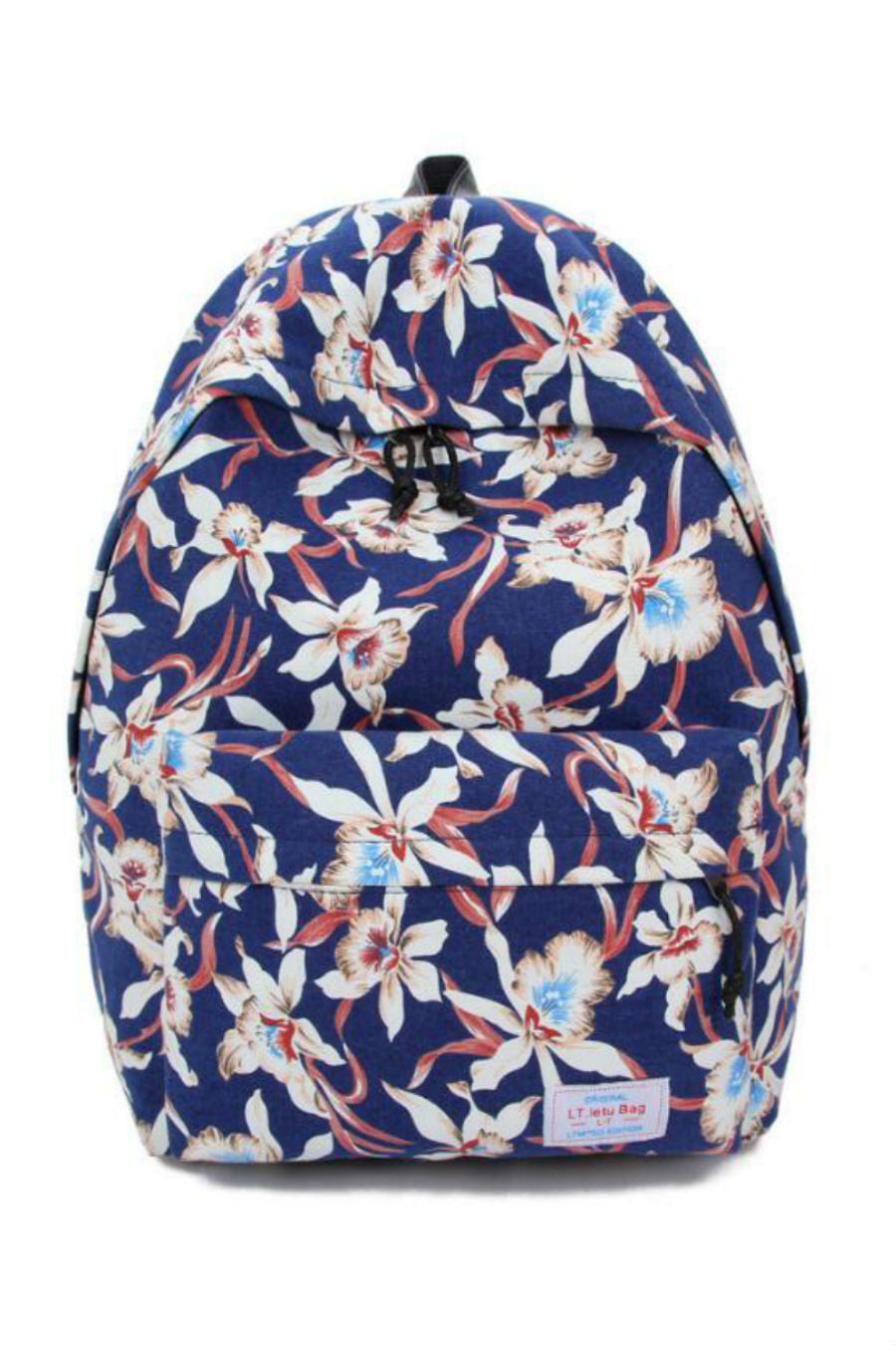 Retro Travel Navy Backpack