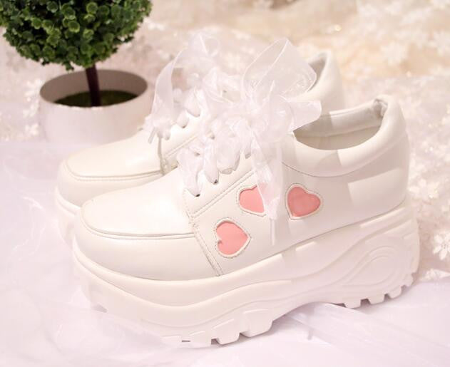 26c1a3ecef51 Lolita Heart Platform Shoes